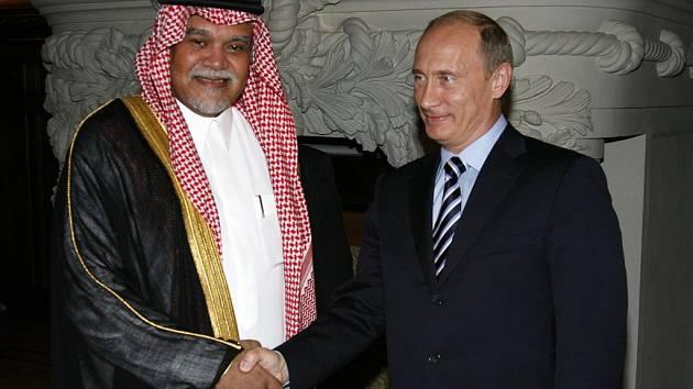Princ Bandár a premiér Putin.