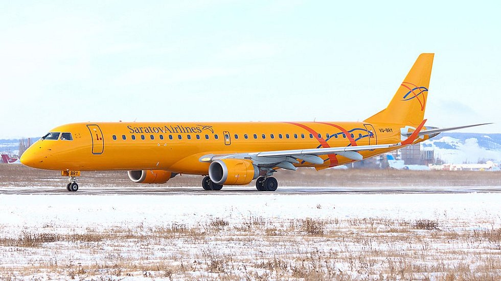 Embraer ERJ-195 ruské letecké společnosti Saratov