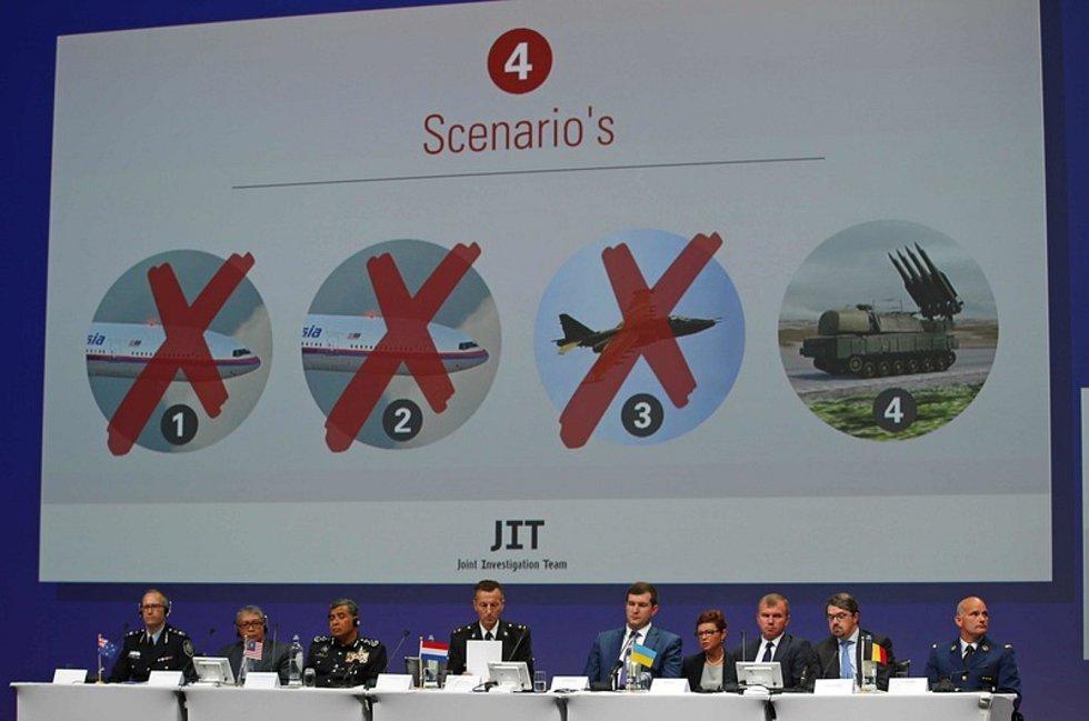Tisková konference expertů vyšetřujících pád malasijského Boeingu 777 (let MH17) nad východní Ukrajinou
