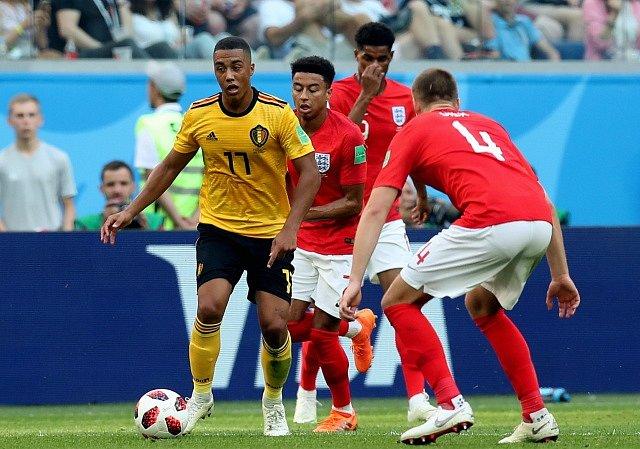 Zápas Belgie a Anglie