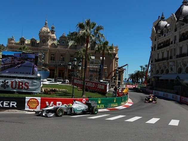 Nico Rosberg ve Velké ceně Monaka.