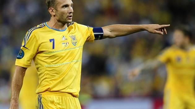 Opora fotbalistů Ukrajiny Andrij Ševčenko.
