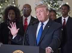 Donald Trump na jednání o daňové reformě