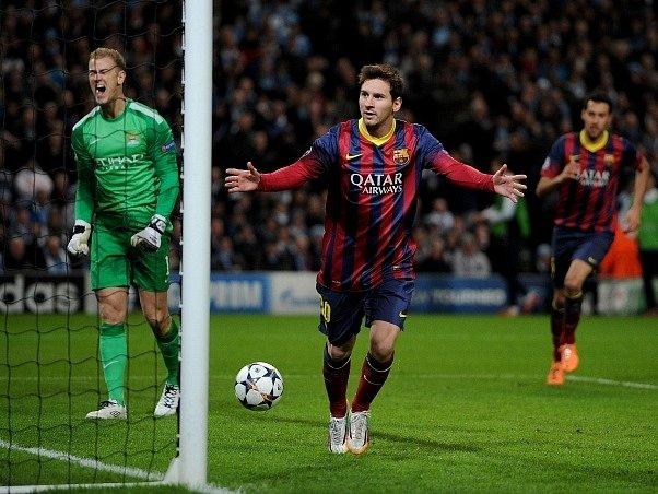 Manchester City - Barcelona: Argentinský fantom Lionel Messi se z penalty nemýlil