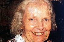 Hudební skladatelka Geraldina Muchová, snacha malíře Alfonse Muchy a manželka spisovatele Jiřího Muchy.