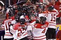 Radost z postupu do finále měli domácí Kanaďané velikou.
