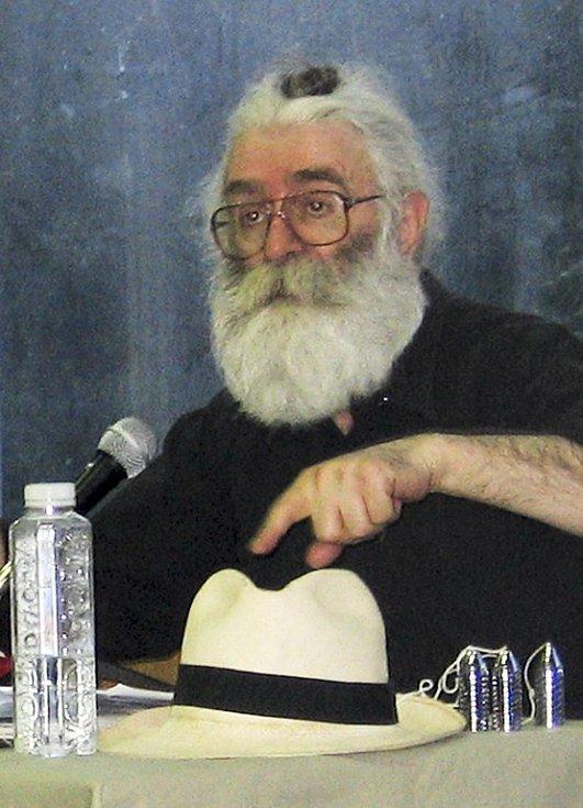Radovan Karadžič na snímku z poslední doby, kdy se zabýval léčitelstvím.