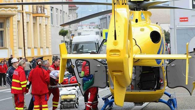 Letecká záchranka zasahuje. Ilustrační foto.