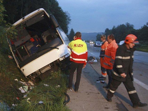 Nehoda českého autobusu v Rakousku