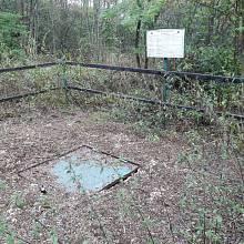 Bývalý důl Nelson v Oseku: zakrytá těžní jáma