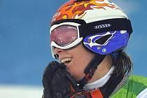 Sauerbreijová projela cílem paralelního slalomu jako první.