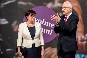 Sledování výsledků druhého kola prezidentských voleb ve štábu Jiřího Drahoše 27. ledna v Praze.