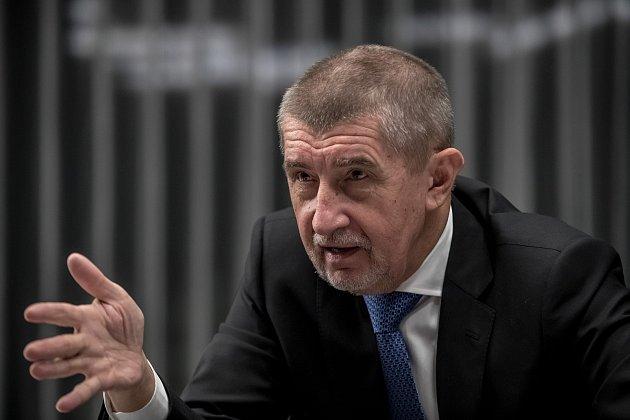 Premiér Andrej Babiš poskytl 2. ledna v Praze rozhovor Deníku.