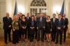 Pan prezident přivítal na zámku v Lánech premiéra Andreje Babiše a členy jeho vlády u příležitosti přátelské adventní večeře.