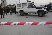 Afghánské bezpečnostní složky na místě útoku - ilustrační foto
