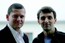 Právník Petr Moucha a IT specialista Jan Eftimov, spoluautoři vzdělávacího cyklu o datových schránkách.