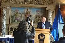 Sto let od komunistického převzetí moci v Rusku se připomínalo ve Washingtonu. Na snímku Václav Klaus.