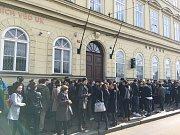 Stávka studentů Vyjdi ven: Fakulta sociálních věd UK