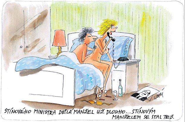 Stínového ministra dělá manžel už dlouho... Stínovým manželem se stal teď.
