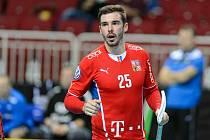 Tom Ondrušek při čtvrtfinálovém duelu s Estonskem.
