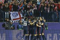 Atlético Madrid - Barcelona: Radost domácích fotbalistů z gólu