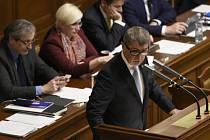 Premiér Andrej Babiš na schůzi Poslanecké sněmovny 19. prosince 2017 v Praze.