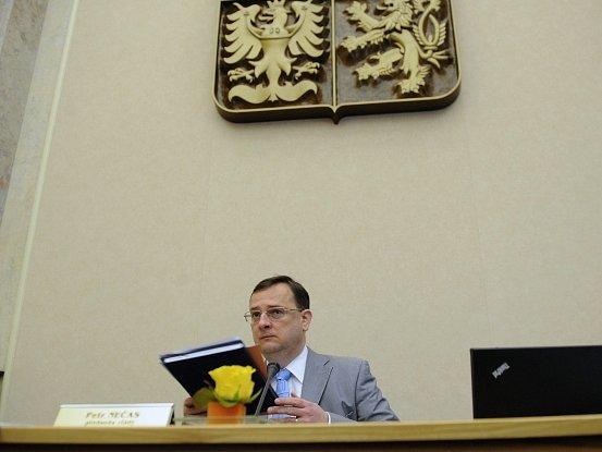 Premiér Petr Nečas se 30. května v Praze zúčastnil zasedání vlády.