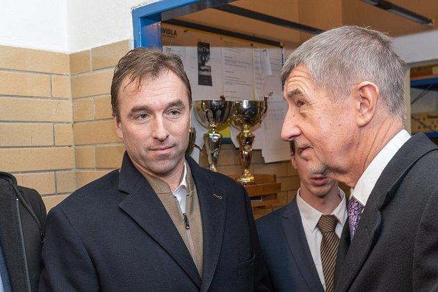 Šéf Národní sportovní agentury Milan Hnilička a premiér Andrej Babiš