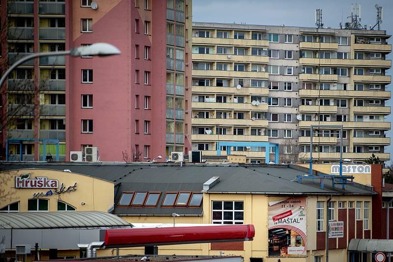 Městská část Dubina, 20. února 2019 v Ostravě.