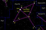 Souhvězdí Orla, v němž se údajně nachází obrovský oblak ethanolu.