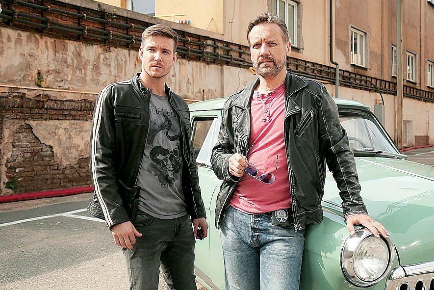 S Davidem Matáskem v seriálu Polda