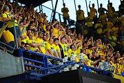 Fotbalové utkání Fortuna ligy mezi celky AC Sparta Praha a SFC Opava 21. července v Praze. Na Letnou dorazily stovky fanoušků.