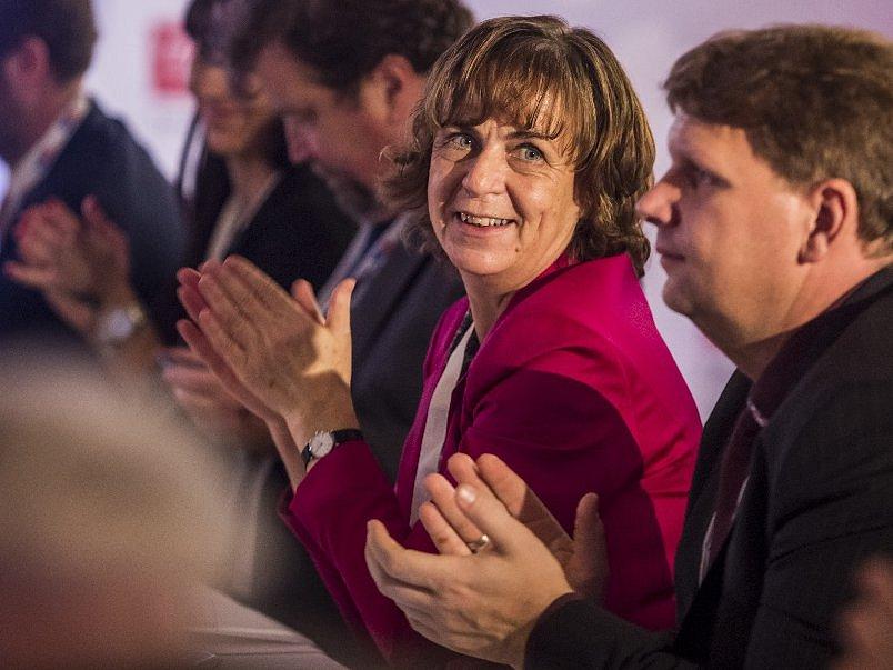 Jitka Chalánková na sněmu TOP 09 v roce 2015