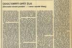 Vítězný článek Parasky Souchové (Jechové) ve Vlastě v roce 1985.