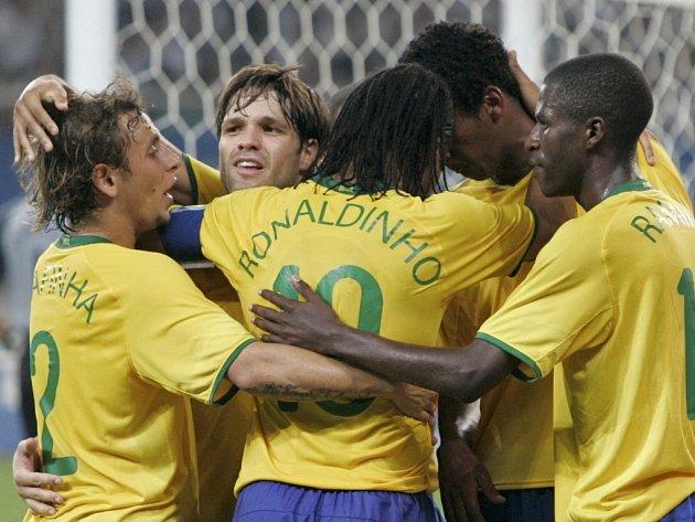 Bronzové medaile získali po vítězství 3:0 nad Belgií fotbalisté Brazílie.