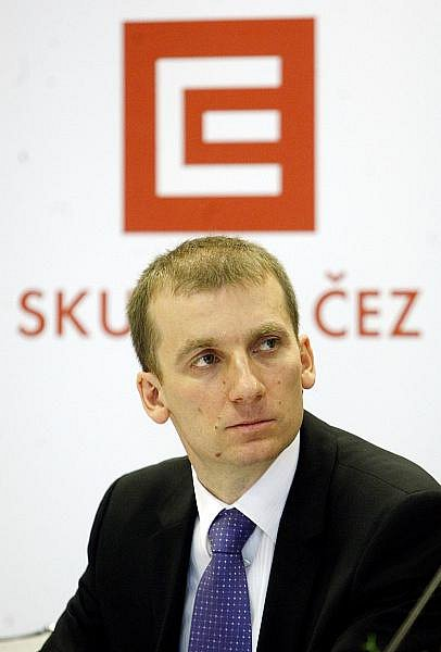 Skupina ČEZ představila na tiskové konferenci 30. listopadu v Praze svoji první dobíjecí stanici pro elektromobily. Na snímku Pavel Cyrani, ředitel divize strategie.