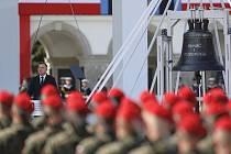Polský prezident Andrzej Duda  při projevu k výročí začátku druhé světové války