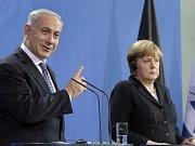 Izraelský premiér Benjamin Netanjahu a německá kancléřka Angela Merkelová v roce 2012.