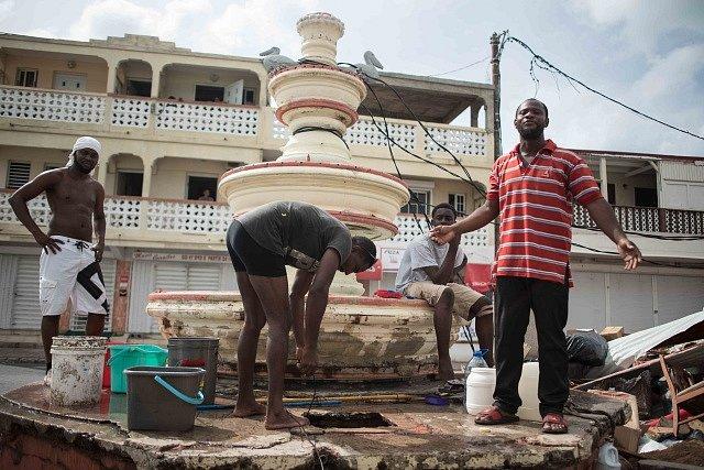 Následky hurikánu Irma na ostrově Svatý Martin