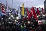 V maďarské Budapešti se demonstrovalo i v uplynulých týdnech
