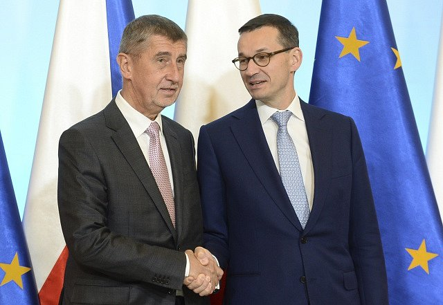 Mateusz Morawiecki a Andrej Babiš.