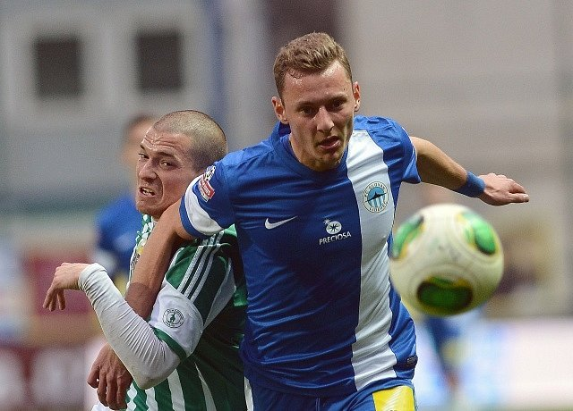 Bohemians - Liberec: David Bartek z Bohemians (vlevo) a Vladimír Coufal z Liberce.
