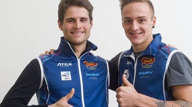 Čeští lyžařští reprezentanti v severské kombinaci Miroslav Dvořák (vlevo) a Tomáš Portyk.