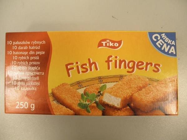 Falšované rybí prsty obsahovaly méně masa oproti informaci na obalu.