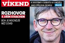 Rozhovor s Jiřím Strachem. Upoutávka na magazín Víkend