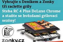 Vyhrajte s Deníkem a  Zonky tři raclette grilly.