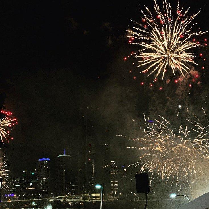 Novoroční ohňostroj v australském Brisbane