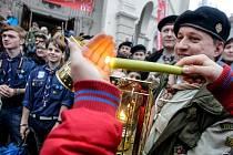 Čeští skauti v sobotu 12. prosince převzali ve Vídni Betlémské světlo.