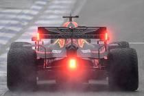 Nizozemský jezdec Red Bullu Max Verstappen na trati Velké ceny Německa v Hockenheimu.