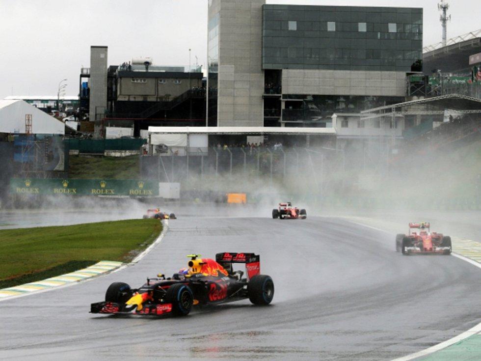 Max Verstappen ve Velké ceně Brazílie.